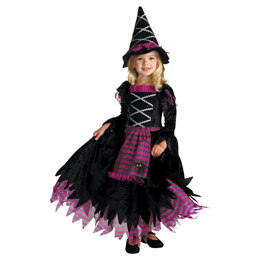 Toddlers' Fairytale Witch Costume Black 3T-4T, Toddler Girl's