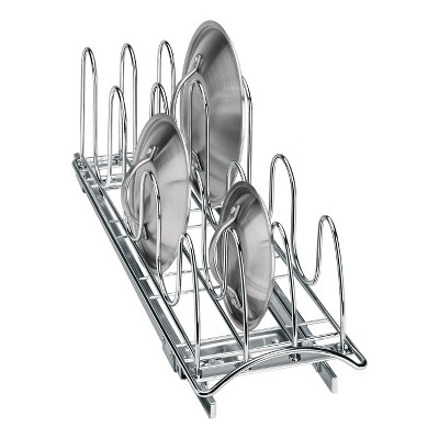 Lynk Professional Slide Out Pan Lid Holder - Pull Out Kitchen Cabinet Organizer Rack