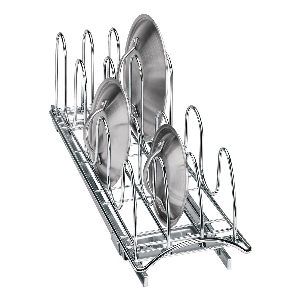 Lynk Professional Slide Out Pan Lid Holder - Pull Out Kitchen Cabinet Organizer Rack, Grey Lynk Professional Slide Out Pan Lid Holder - Pull Out Kitchen Cabinet Organizer Rack Color: Chrome.