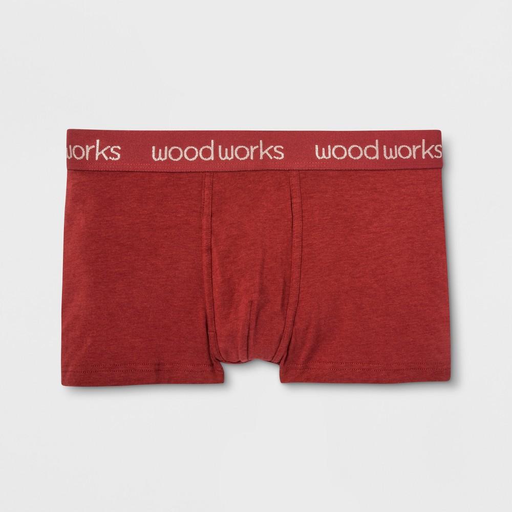Men's Wood Works Trunks - Red M