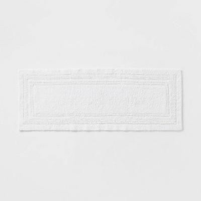 "22""x60"" Performance Cotton Reversible Bath Runner White - Threshold™"