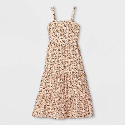 Girls' Shoulder Tie Sleeveless Dress - art class™