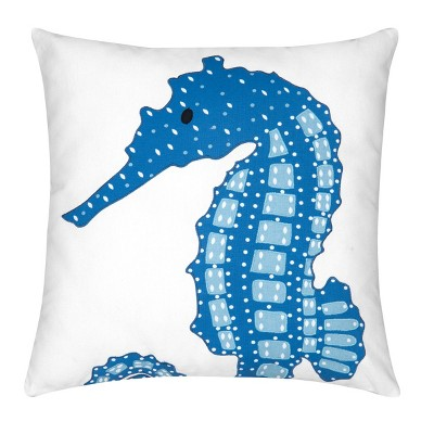 C&F Home Seahorse Cotton Embroidered And Applique Coastal Pillow