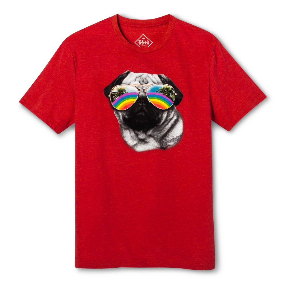 Pride Adult Short Sleeve Gender Inclusive Pug T - Shirt - Red Puree XL, Adult Unisex