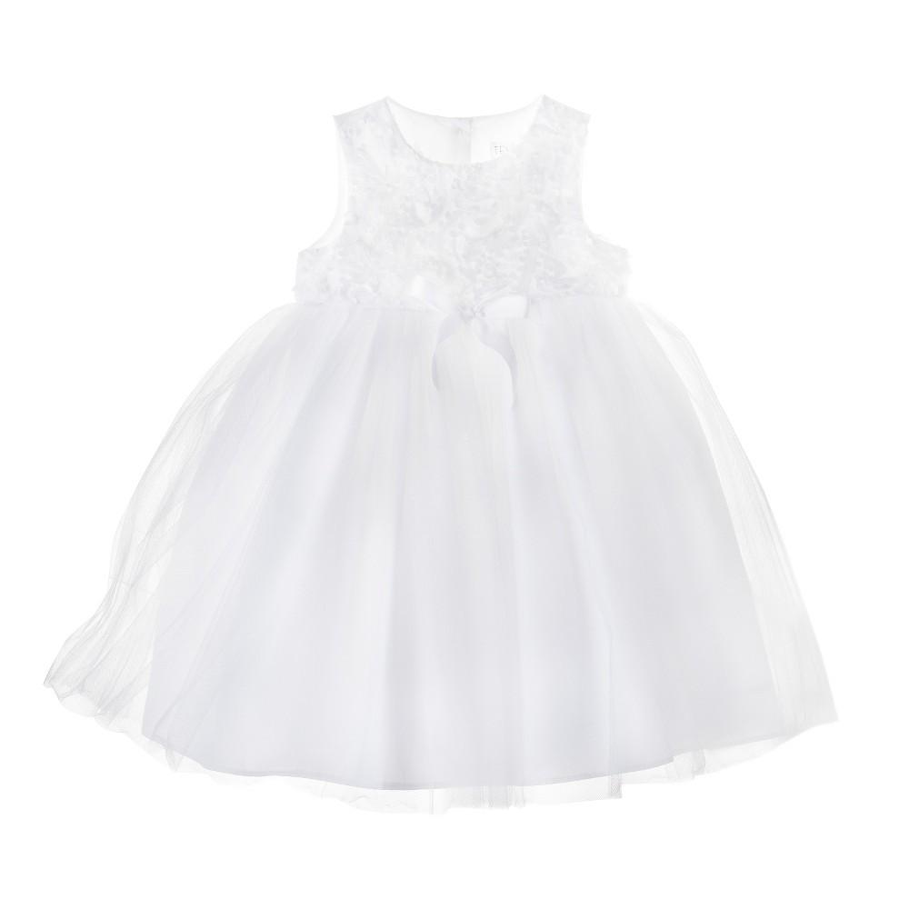 Infant Toddler Girls' Sleeveless Ballerina Dress Tevolio - White 5T