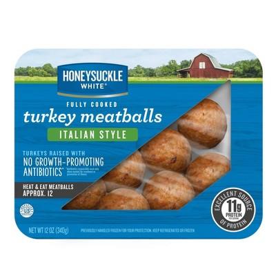 Honeysuckle White Fully Cooked Italian Style Turkey Meatballs - 12oz