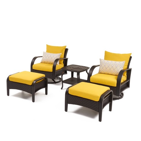 Barcelo 5pc Motion Club All-Weather Wicker Patio Seating Set - RST Brands - image 1 of 4