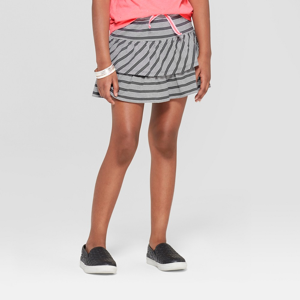 Image of Girls' Knit Skort - Cat & Jack Gray L, Girl's, Size: Large