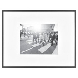 """14"""" x 18"""" Matted to 8"""" x 10"""" Thin Metal Gallery Frame Black - Project 62™"""