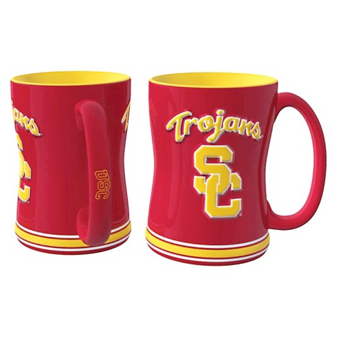 USC Trojans Boelter Brands 2 Pack Trojans Sculpted Relief Style Coffee Mug - Red/ Yellow (15 oz) - image 1 of 1