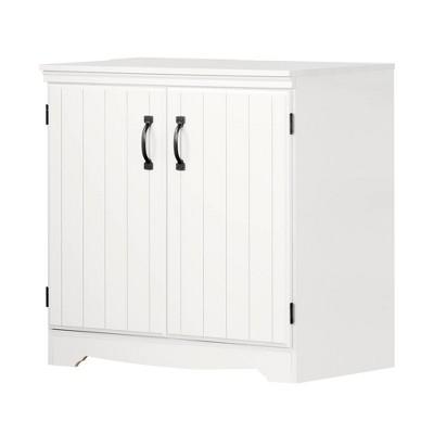 Farnel 2 Door Storage Cabinet Pure White - South Shore