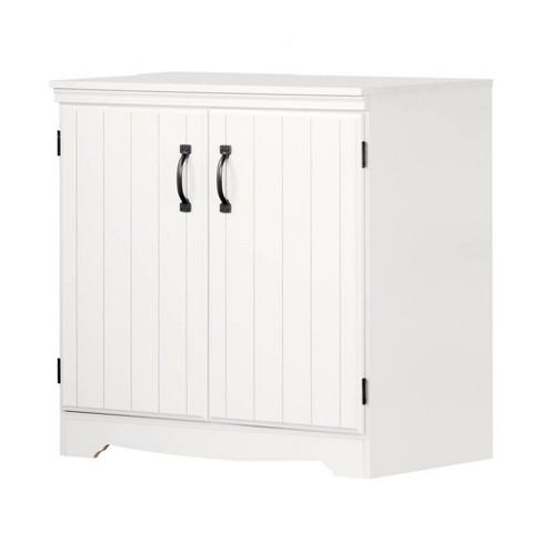 Farnel 2 Door Storage Cabinet Pure White - South Shore - image 1 of 4