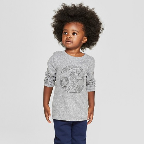 8fa0d457961 Toddler Boys  Critters Long Sleeve T-Shirt - Cat   Jack™ Charcoal 3T ...