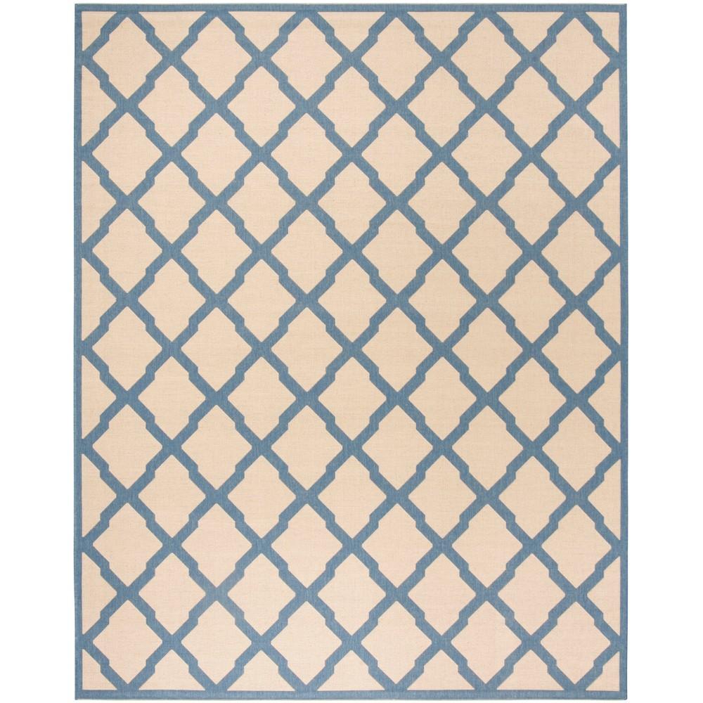 9X12 Geometric Loomed Area Rug Cream/Blue - Safavieh Cheap