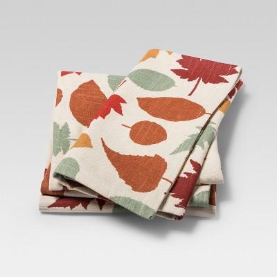 Napkin Orange Leaves 4pk - Threshold™