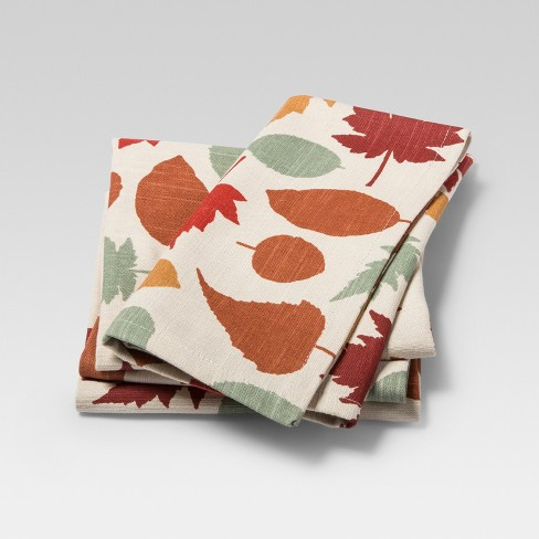 Napkin Orange Leaves 4pk - Threshold™ - image 1 of 1