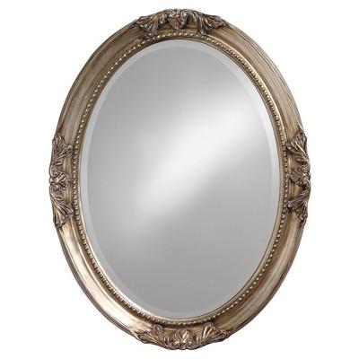 Queen Ann Antique Silver Leaf Mirror - Howard Elliott