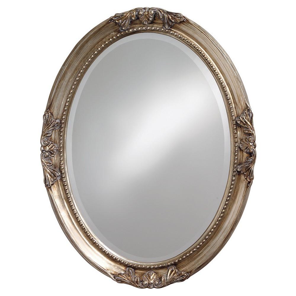 Image of Howard Elliott - Queen Ann Antique Silver Leaf Mirror