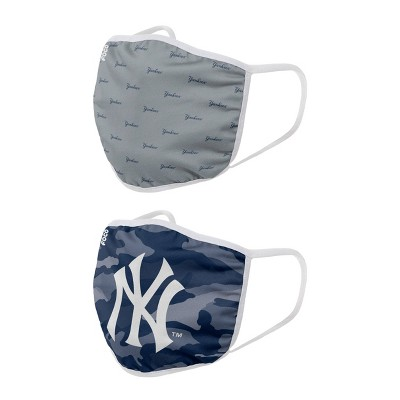 MLB New York Yankees Clutch Printed Face Cover Set - 2pk