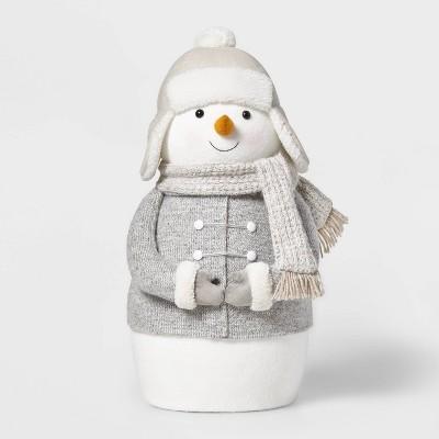Large Plush Snowman Decorative Figurine White - Wondershop™