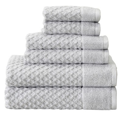Great Bay Home 100% Cotton Textured Bath Towel Sets