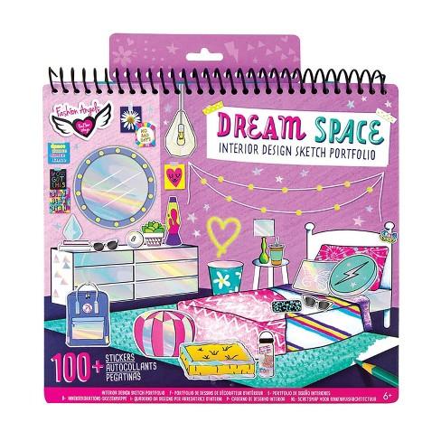 Fashion Angels Fashion Angels Dream Space Interior Design Sketch Portfolio Set - image 1 of 4