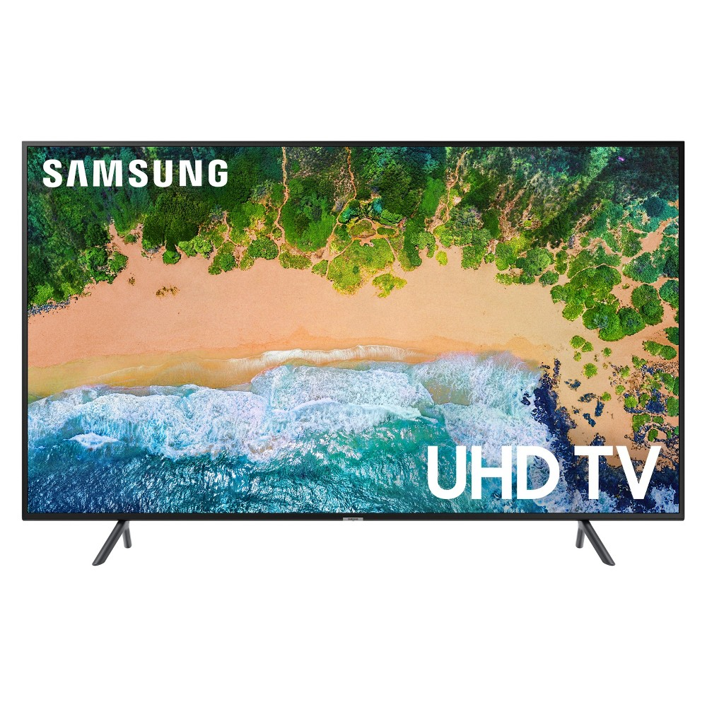 Samsung 75 Smart Uhd TV - Black (UN75NU7100) Step up from Full HD with the clarity of the Samsung UN75NU7100. Get 4X the resolution of Full HD, plus non-4K TV content is upscaled to 4K via a powerful Uhd Engine. This TV is a clear upgrade for your content. Color: Black.