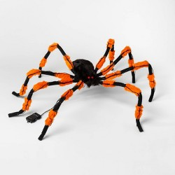 5' LED Hanging Spider Halloween Silhouette Light Orange/ Black - Hyde & EEK! Boutique™