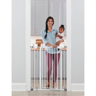Regalo Extra Tall Easy Step Metal Walk Through Baby Gate - White