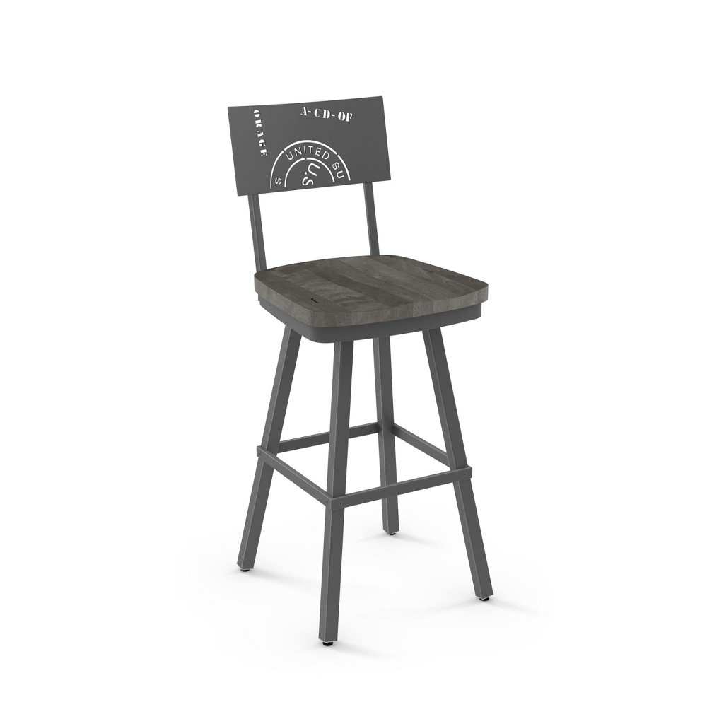 "Image of ""25.25"""" Amisco Jameson Counter Stool Gray"""