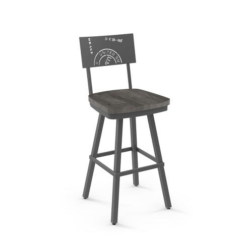 "Amisco Jameson 30"" Bar Stool with Wood Seat - image 1 of 2"