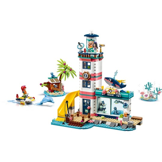 LEGO Friends Lighthouse Rescue Center 41380 Building Kit with Mini Dolls and Toy Animals 602pc image number null