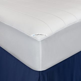 Washable Memory Foam Fitted Mattress Pad White (Twin) - Sealy Posturepedic