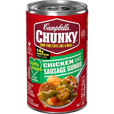 Campbell's Chunky Healthy Request Grilled Chicken & Sausage Gumbo Soup - 18.8oz