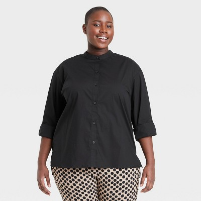 Women's Long Sleeve Button-Down Shirt - Who What Wear™