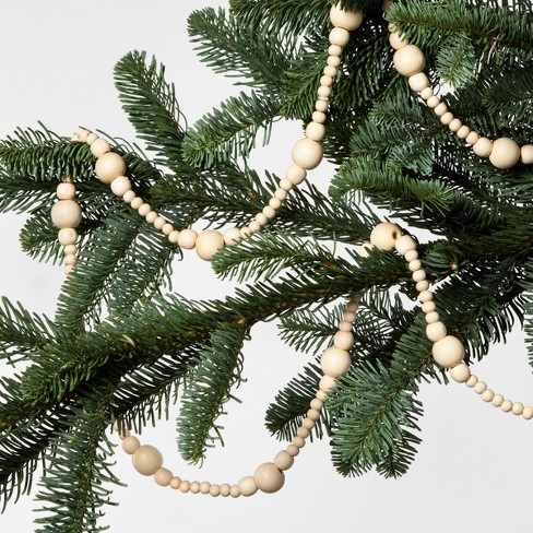 tree garland wooden beads hearth hand with magnolia target