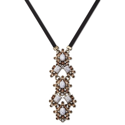 SUGARFIX by BaubleBar™ Marbled Pendant Necklace - White - image 1 of 2