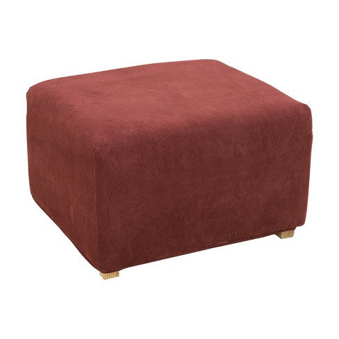 Stretch Pique Oversized Ottoman - Sure Fit - image 1 of 2
