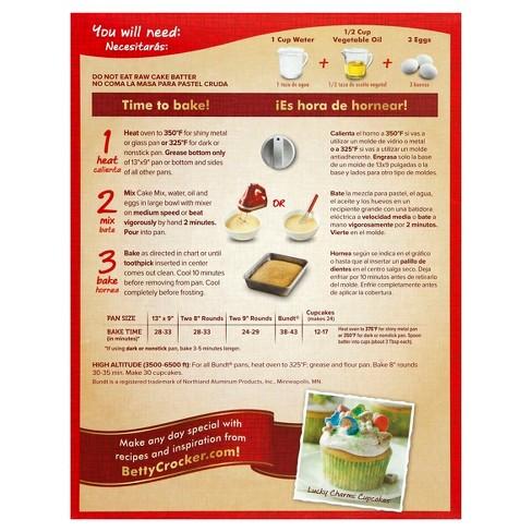 Betty Crocker Super Moist Lemon Cake