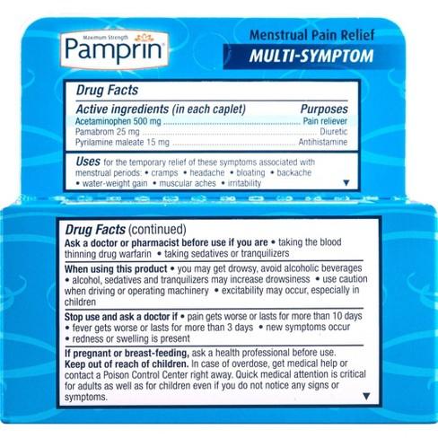 Pamprin Multi-Symptom Menstrual Pain Relief Tablets - Acetaminophen - 40ct