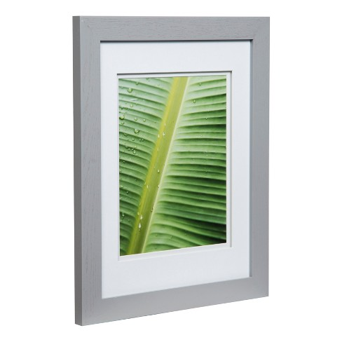 Single Image 11x14 Wide Double Mat Gray 8x10 Frame Gallery