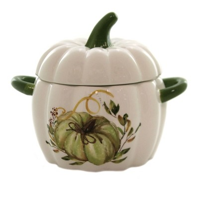 "Tabletop 6.0"" Lidded Pumpkin Dish Thanksgiving Candy K & K Interiors  -  Serving Bowls"