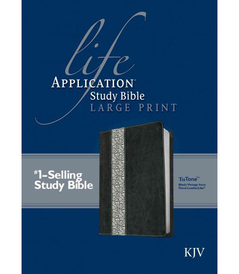 Life Application Study Bible : King James Version Black/Vintage Ivory Floral TuTone LeatherLike - image 1 of 1