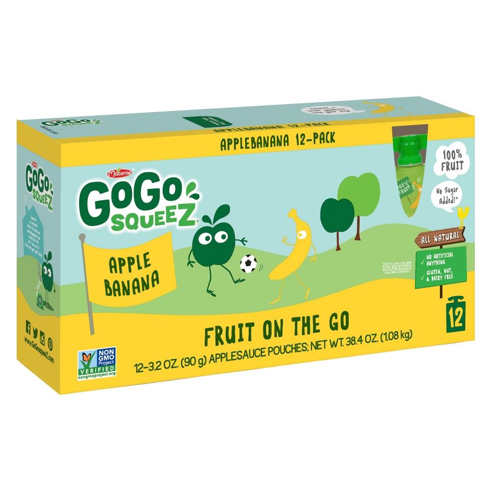 Gogo Squeez Apple Banana Applesauce On The Go Pouches 12c...