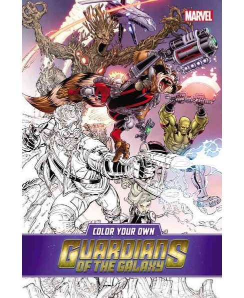 Color Your Own Guardians of the Galaxy (Paperback) - image 1 of 1