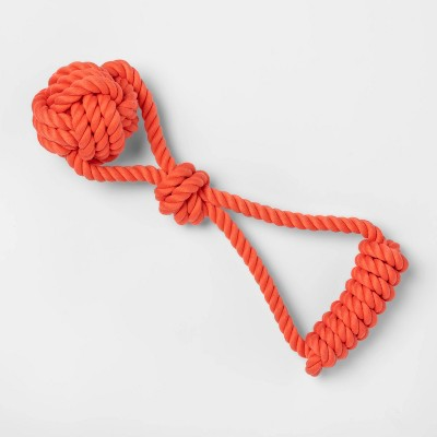 Monkey Fist Rope with Handle - Red - L - Boots & Barkley™