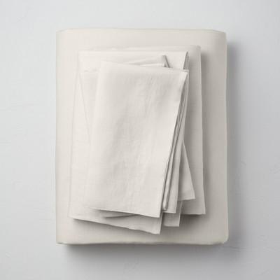 Queen 100% Washed Hemp Solid Sheet Set Natural - Casaluna™