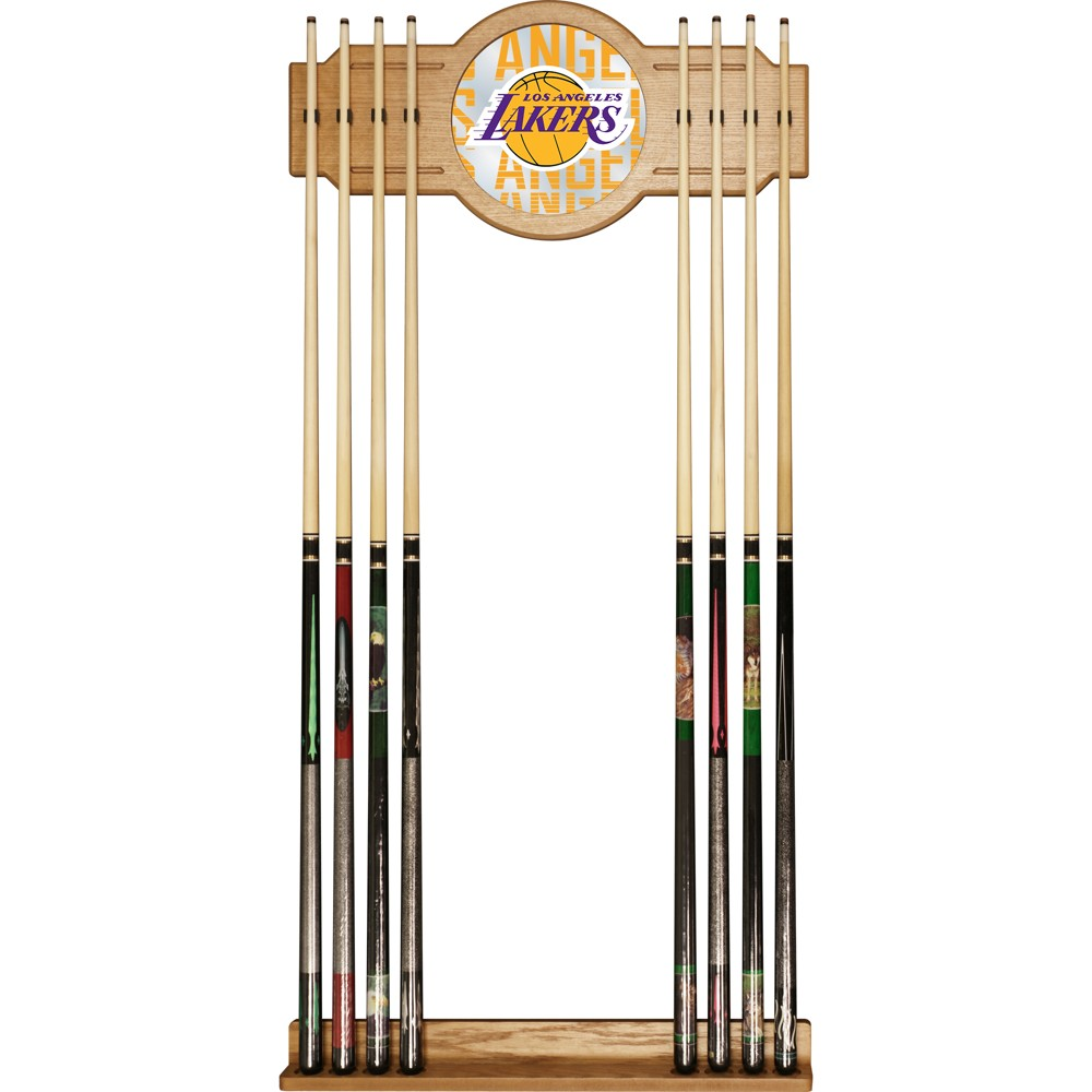 NBA Los Angeles Lakers City Cue Rack with Mirror