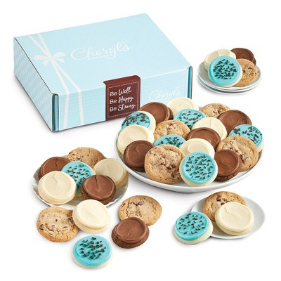 Cheryl's Cookies Be Well, Happy and Strong Gift Box Classic Cookie Gift Assortment (24 Cookies)