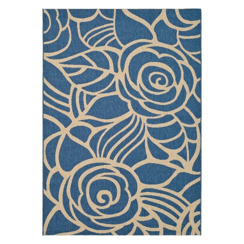 Madeline Outdoor Rug - Blue / Beige - Safavieh® - image 1 of 1